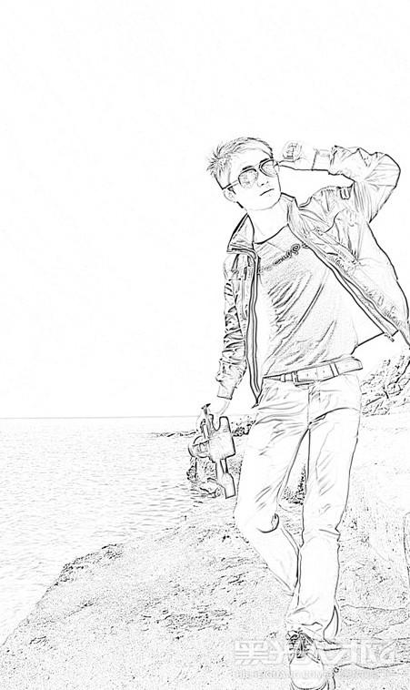 摄影师简笔画-成都九拍架子鼓俱乐部第一品牌