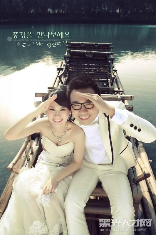 超可爱彭超结婚照